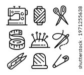 sewing related icons set....   Shutterstock .eps vector #1971255638