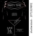 party time poster on the black...   Shutterstock .eps vector #1971319892