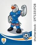 eagle mascot for football team | Shutterstock .eps vector #1971331928