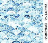 seigaiha seamless watercolor...   Shutterstock .eps vector #1971334955