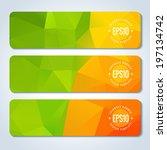 orange green website header or... | Shutterstock .eps vector #197134742