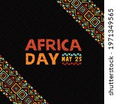 africa day greeting card... | Shutterstock .eps vector #1971349565