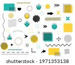 set of geometric shapes.... | Shutterstock .eps vector #1971353138