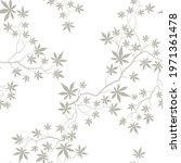 floral pattern with leaves and... | Shutterstock .eps vector #1971361478