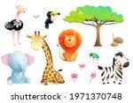 african safari animals isolated ... | Shutterstock .eps vector #1971370748
