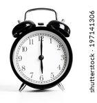 a black metal alarm clock... | Shutterstock . vector #197141306