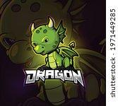 Dragon Mascot Esport Logo...