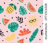 summer seamless pattern. summer ... | Shutterstock .eps vector #1971511028