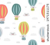 childish seamless pattern with... | Shutterstock .eps vector #1971511175