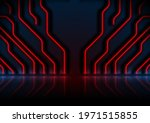 blue and red neon circuit board ... | Shutterstock .eps vector #1971515855