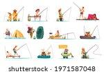 recreational fishing cartoon... | Shutterstock .eps vector #1971587048