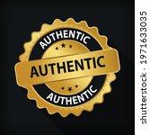 gold badge authentic guarantee...   Shutterstock .eps vector #1971633035