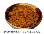 Dried Raisins In A Brown Wooden ...