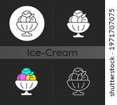 sorbet dark theme icon. sherbet ... | Shutterstock .eps vector #1971707075