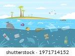 sea garbage. plastic trash...   Shutterstock .eps vector #1971714152