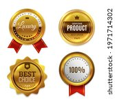 badges gold seal quality labels.... | Shutterstock .eps vector #1971714302