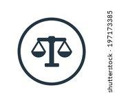 scales icon vector | Shutterstock .eps vector #197173385