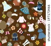 girls clothes seamless pattern | Shutterstock .eps vector #197173466