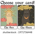 Vintage Mystic Sun And Moon...