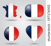 France Flag Set In Map  Oval ...