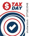 national tax day in the united... | Shutterstock .eps vector #1971813548