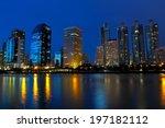 bangkok night cityscape | Shutterstock . vector #197182112
