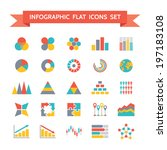 vector icons set of infographic ... | Shutterstock .eps vector #197183108