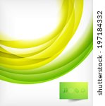 green bright vector wave design | Shutterstock .eps vector #197184332