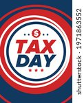 national tax day in the united... | Shutterstock .eps vector #1971863552