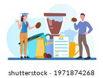 male tutor gives masterclass to ... | Shutterstock .eps vector #1971874268