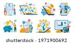 online banking. finance...   Shutterstock .eps vector #1971900692