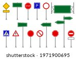 traffic signs. street and road... | Shutterstock .eps vector #1971900695
