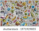 colorful vector hand drawn...   Shutterstock .eps vector #1971929855