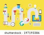 curriculum vitae. modern flat... | Shutterstock .eps vector #197193386