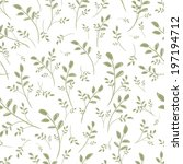 leaf seamless pattern for your... | Shutterstock .eps vector #197194712