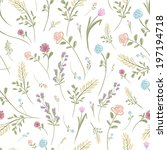floral seamless pattern for... | Shutterstock .eps vector #197194718
