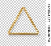 triangle luxury 3d gold frame... | Shutterstock .eps vector #1971955058