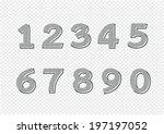 numbers set. illustration | Shutterstock .eps vector #197197052