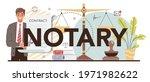 notary typographic header.... | Shutterstock .eps vector #1971982622