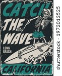 extreme surfing vintage poster... | Shutterstock .eps vector #1972013525