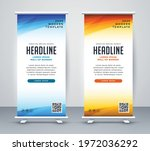 roll up banner stand template...   Shutterstock .eps vector #1972036292