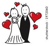 cartoon married couple | Shutterstock . vector #1972060