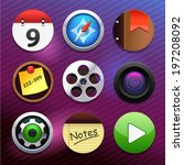 app buttons icons  vector
