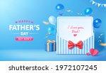 3d sale promo banner for happy... | Shutterstock .eps vector #1972107245