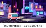 ambulance in night city  medic... | Shutterstock .eps vector #1972157648