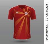 realistic soccer shirt 2020 ... | Shutterstock .eps vector #1972160225