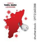 tamil nadu lockdown preventing... | Shutterstock .eps vector #1972160288
