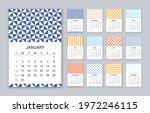 2022 calendar. vector. week...   Shutterstock .eps vector #1972246115