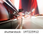 car on the road with motion... | Shutterstock . vector #197225912