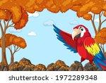 parrot bird cartoon character... | Shutterstock .eps vector #1972289348